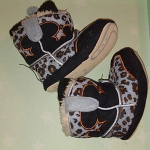 Cowboy Kickers baby booties leather soles